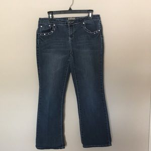 Earl Jean diamond studded jeans